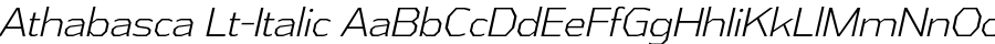 Athabasca Lt-Italic Polices