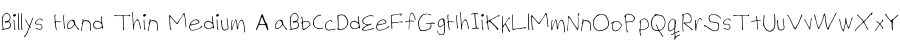 Fonte Billys Hand Thin Medium