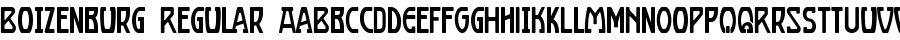Boizenburg Regular Font