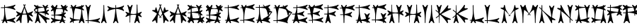 Carbolith Font