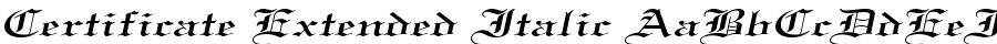 Certificate Extended Italic fuentes