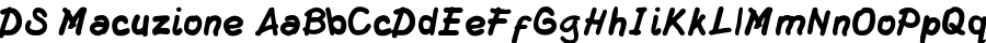 DS Macuzione Font