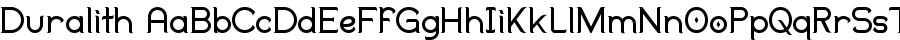 Duralith Font