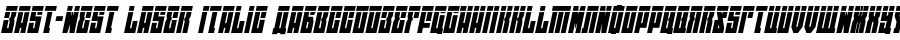 East-west Laser Italic Polices
