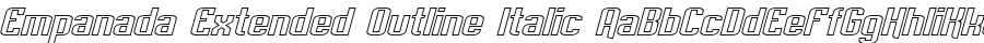 Empanada Extended Outline Italic Polices