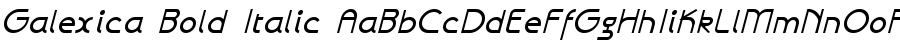 Galexica Bold Italic polices