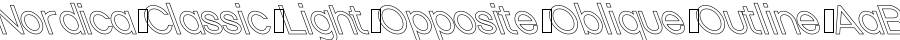 Nordica Classic Light Opposite Oblique Outline Polices