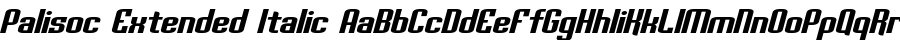 Palisoc Extended Italic fuentes