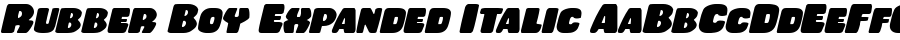 Rubber Boy Expanded Italic polices