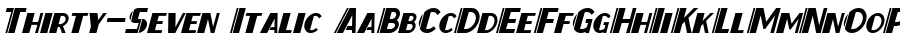 Thirty-Seven Italic Polices