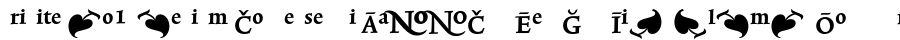 Trinite No1-Medium Condensed Pi schriftarten