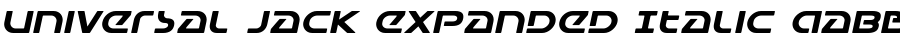 Universal Jack Expanded Italic Polices