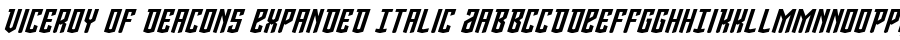 Fonte Viceroy Of Deacons Expanded Italic